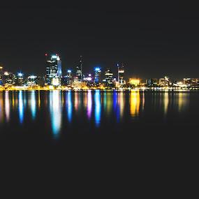 Perth. by Michael Tan - City,  Street & Park  Skylines ( #perth #australia #swanriver #cityscapes  #canon #g16 )