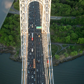George Washington Bridge by Frank DeChirico - Buildings & Architecture Bridges & Suspended Structures (  )