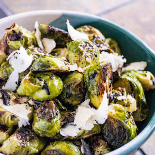 Roasted Brussels Sprouts with Parmesan & Balsamic.