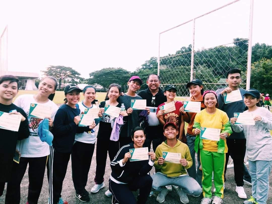 BPED students were awarded certificates of participation in the Track and Field Seminar