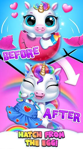 My Baby Unicorn - Virtual Pony Pet Care & Dress Up android2mod screenshots 1