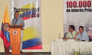 Photo: El Ministro recordó que en cada uno de los departamentos, las viviendas estarán dirigidas a atender hogares en condición de pobreza extrema.