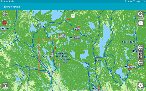 Aqua Map Saskatchewan Lakes- screenshot thumbnail