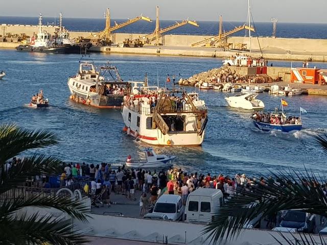 Procesión marítima que este año no celebrará por la covid-19.