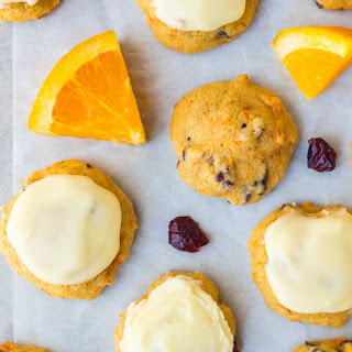 Melt-in-Your-Mouth Orange Cookies with Cranberries and Orange Frosting