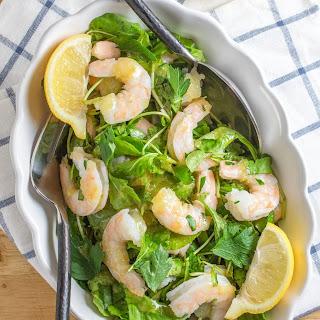 Shrimp & Arugula Salad with Preserved Lemon Dressing