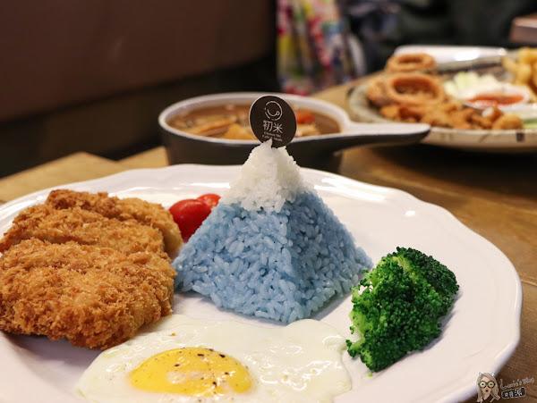 富士山豬排飯龍貓造型蛋糕-中山國中初米咖啡/咖啡廳簡餐廳推薦/菜單價位