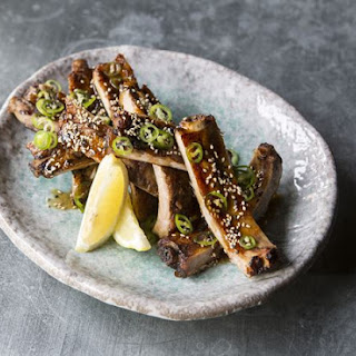 Robata Grilled Pork Ribs with Honey, Soy and Ginger Recipe