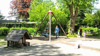 Photo: Kleinkinderschaukel auf dem Stadtgarten-Spielplatz.