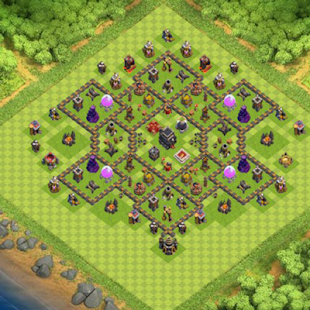 Farming Base Maps Town Hall 9 - náhled