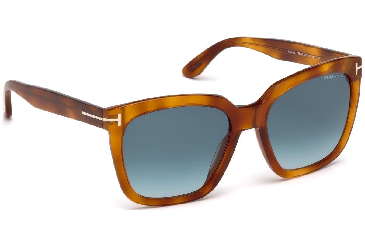 c04401e02a Sunglasses Tom Ford Amarra FT0502 C55 53W (blonde havana   gradient blue)