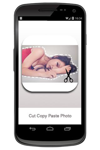 コピー貼り付けの写真をカットします。