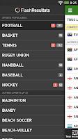 Screenshot of Flash Resultats