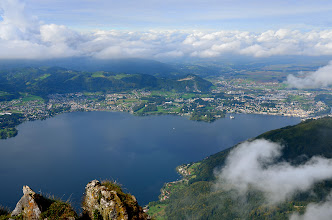 Photo: Traunsee i miasto Gmunden