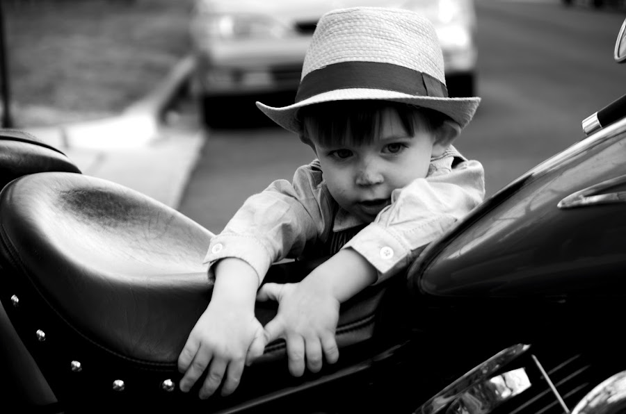 When I'm a Big Boy... by Nathan Heldman - Babies & Children Children Candids ( dreaming, growing up, motorcycle, boy )