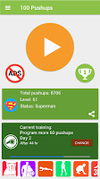 Screenshot of 100 Pushups workout