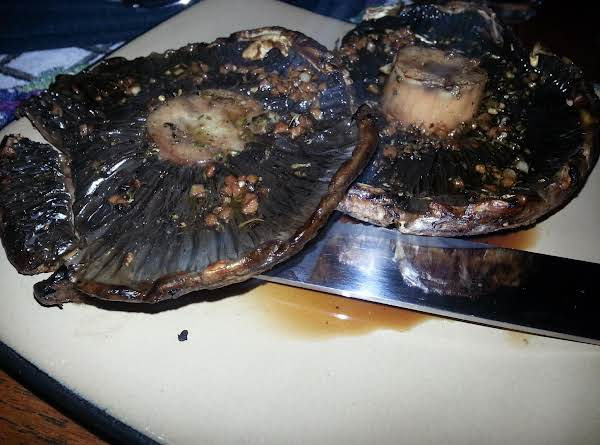 Grilled Portabella Mushrooms Steak As A Main Course For My Husbands Dinner Tonight!
