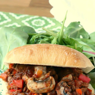Healthy Low fat Vegetarian Sloppy Joes