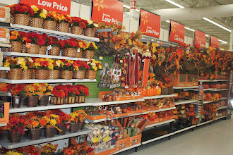 Photo: Once we made our selections we headed to the fall decor.