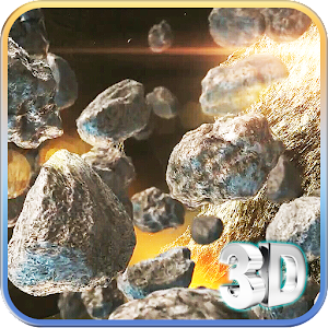 Space Rocks 3D Icon