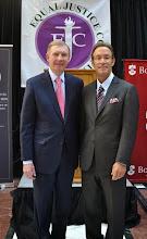 Photo: BBA President Paul Dacier and MBA President Doug Sheff.