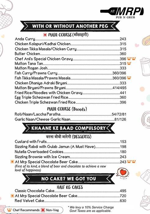 AT MRP menu 8