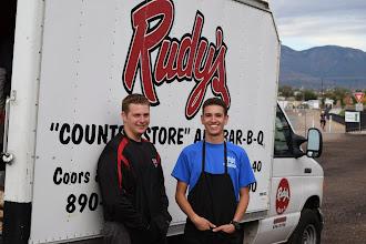 Photo: servers of Rudy's BBQ
