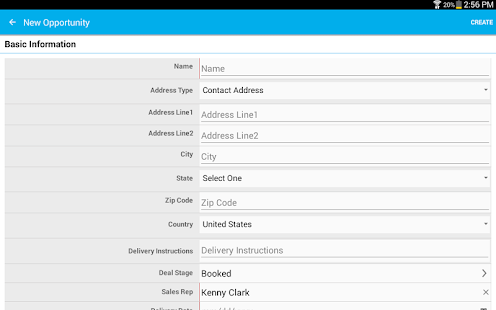 Apptivo CRM- screenshot thumbnail
