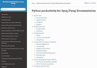 PYNQ - Python productivity for Zynq - Documentation
