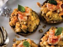 Shrimp Stuffed Portobellos Recipe