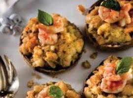 Shrimp Stuffed Portobellos Recipe
