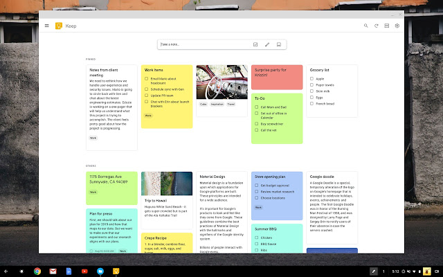 Google Keep For Mac