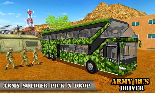 Army Bus Driving 2019 - Military Coach Transporter 1.0.8 screenshots 1