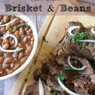 Slow Cooker Brisket & Beans