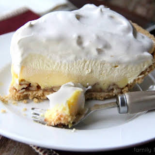 Triple-Layer Eggnog Pie.