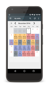 Shift Calendar screenshot 1