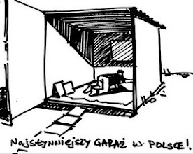 "Photo: Whielki Krasnal ""Everyday life in Garage in 1999-2001"". Refers to the cartoons of Wilhelm Sasnal - ""Everyday life in Poland in 1999-2001"" The famoust garage in Poland"