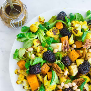 Blackberry Pecan Roast Veggie Power Salad