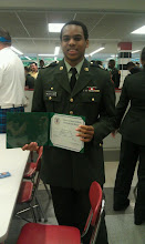 Photo: 82nd Airborne Div Assoc America's Guard of Honor Certificate with Medallion for outstanding leadership, military and scholastic excellence, and potential to succeed in a military career.  4/19/12
