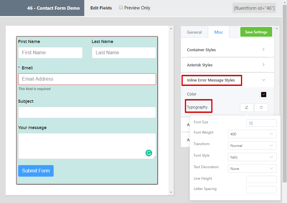 responsive form CSS