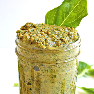 Simple, Vegan Green Olive Pesto