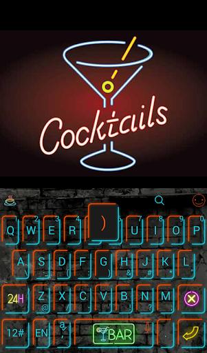 Free Neon Pub Keyboard Theme