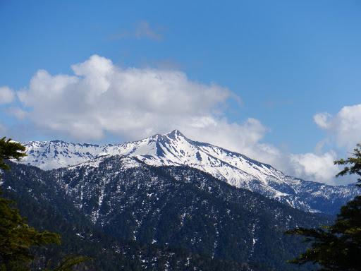 笠ヶ岳の雲も晴れ