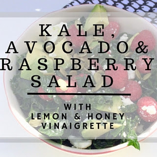 Kale, Avocado & Raspberry Salad