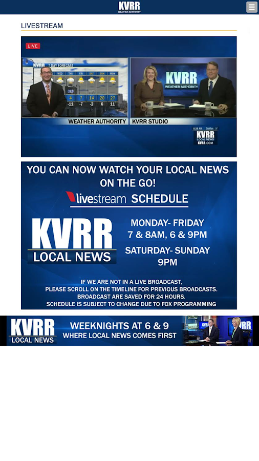 KVRR- screenshot