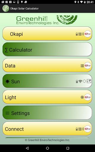 Okapi Solar Calculator