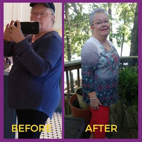 Before and After with Faithful Finish Lines Christian Weight Loss - Glo's Story