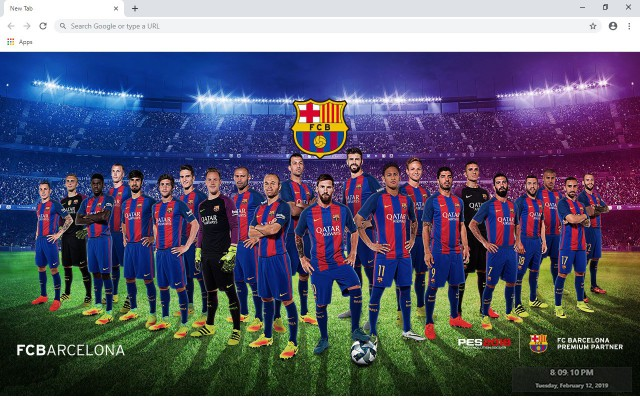 FC Barcelona New Tab & Wallpapers Collection