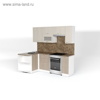 Кухонный гарнитур Ольга прайм 2 1300*2100 мм