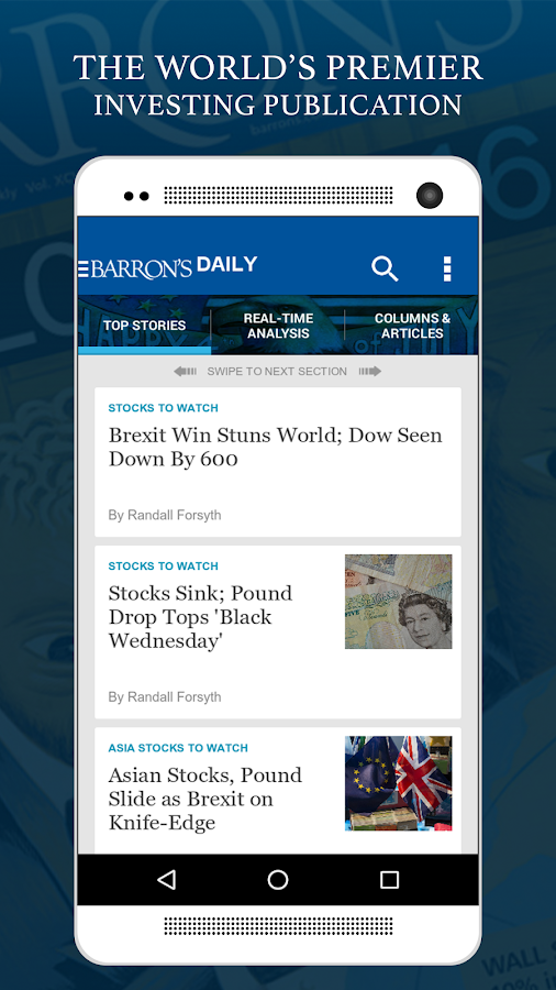 Barron's - Stock Market News- screenshot